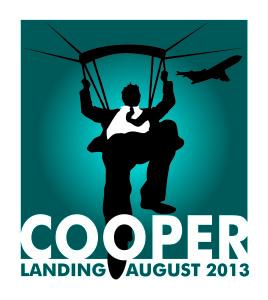 Image of DB Cooper parachuting
